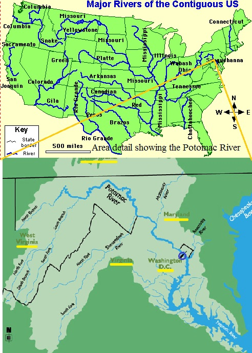 ROW Foundation Home - Major rivers in usa map